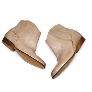 {Anthropologie}Latigo Leather Ankle Booties